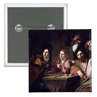 Meeting of Drinkers 15 Cm Square Badge
