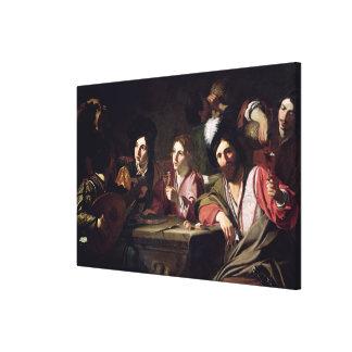 Meeting of Drinkers Canvas Print