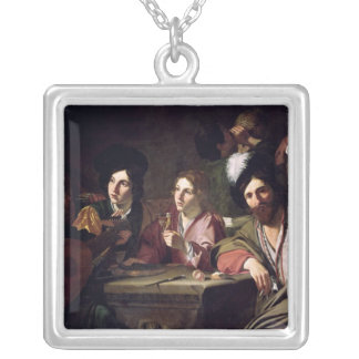 Meeting of Drinkers Silver Plated Necklace
