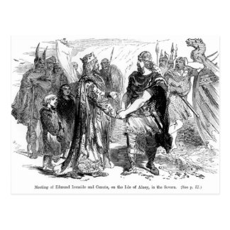 Meeting of Edmund Ironside  and Canute Postcard