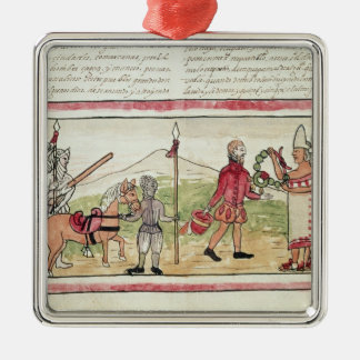 Meeting of Hernando Cortes  and Montezuma Christmas Ornament