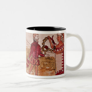 Meeting of Hernando Cortes  and Montezuma Two-Tone Coffee Mug