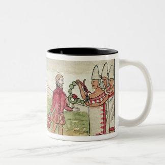Meeting of Hernando Cortes  and Montezuma Two-Tone Coffee Mug