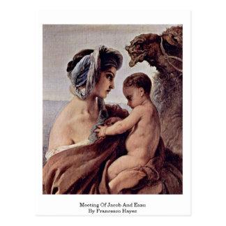Meeting Of Jacob And Esau By Francesco Hayez Postcard