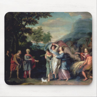 Meeting of Jacob and Laban with Rachel, Leah and S Mouse Mat