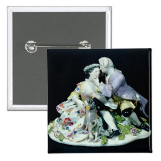 Meeting of Lovers 15 Cm Square Badge