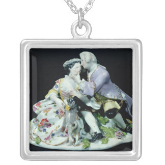 Meeting of Lovers Silver Plated Necklace
