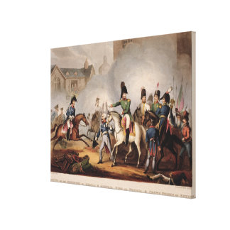 Meeting of the Emperors of Russian and Austria, Ki Canvas Print