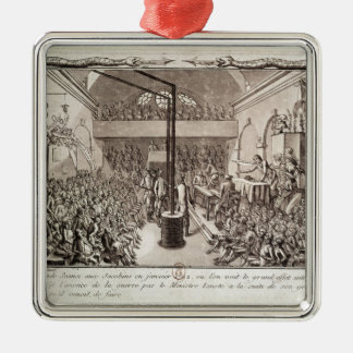 Meeting of the Jacobin Club, January 1792 Silver-Colored Square Decoration