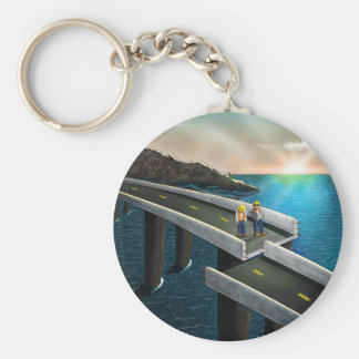 Meeting of the minds basic round button key ring