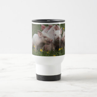 Meeting of the Three Little Pigs 15 Oz Stainless Steel Travel Mug
