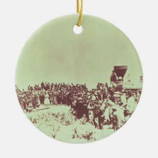 Meeting of the Union Pacific and the Central Pacif Christmas Ornament