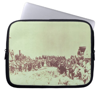 Meeting of the Union Pacific and the Central Pacif Laptop Sleeve