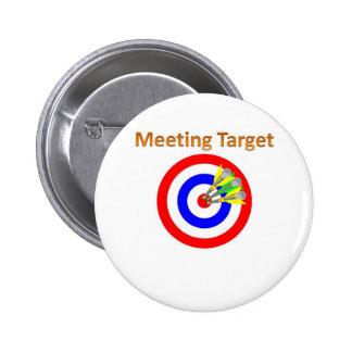 meeting target 6 cm round badge