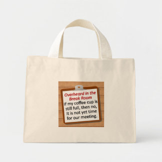 Meeting Time Mini Tote Bag