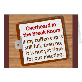 Meeting Time  Note Card