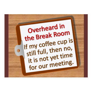 Meeting Time  Post Card