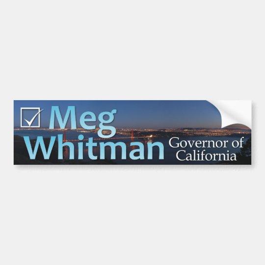 Meg Whitman for Governor - Colour Bumper Sticker