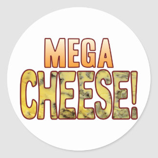 Mega Blue Cheese Classic Round Sticker