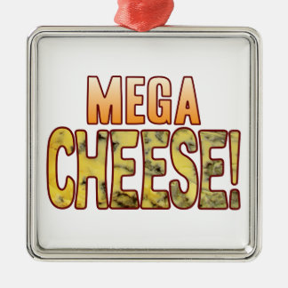 Mega Blue Cheese Silver-Colored Square Decoration