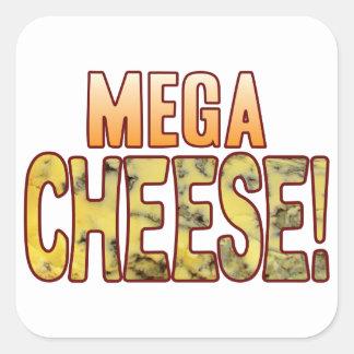 Mega Blue Cheese Square Sticker