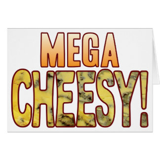 Mega Blue Cheesy Card
