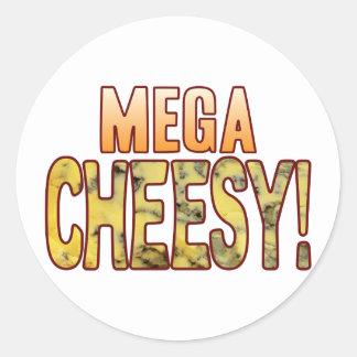 Mega Blue Cheesy Classic Round Sticker