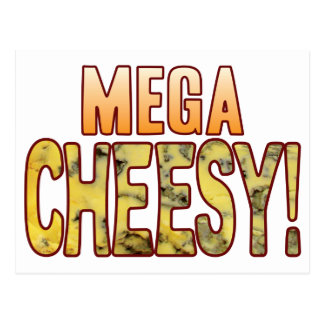 Mega Blue Cheesy Postcard