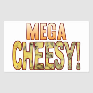 Mega Blue Cheesy Rectangular Sticker