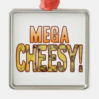 Mega Blue Cheesy Silver-Colored Square Decoration