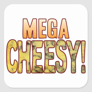 Mega Blue Cheesy Square Sticker