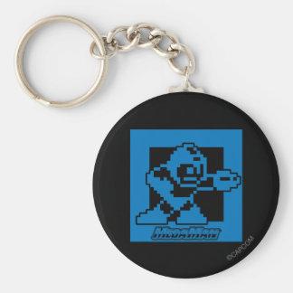 Mega Blues Basic Round Button Key Ring