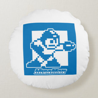 Mega Blues Round Cushion