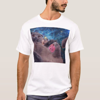 Mega Derp Cat in Space T-Shirt