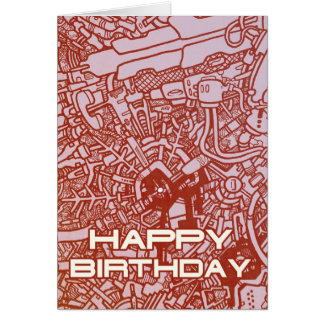 Mega Doodle Birthday 3 Card