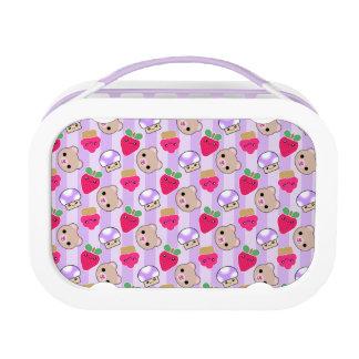 Mega Kawaii Cupcake Mushroom Strawberry Lunchbox