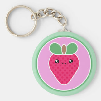 Mega Kawaii Sweet Strawberry Key Ring