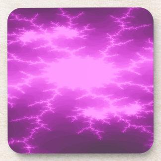 Mega Lightning Fractal Cork Coaster
