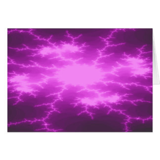 Mega Lightning Fractal Custom Greeting Card