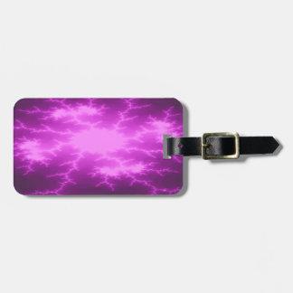 Mega Lightning Fractal Custom Luggage Tag
