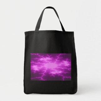 Mega Lightning Fractal Grocery Tote Bag