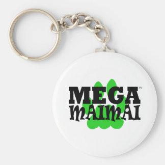 Mega Maimai Paw Print Green Key Chains