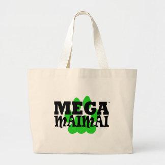 Mega Maimai Paw Print Green Tote Bags