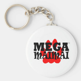 Mega Maimai Red Paw Print Keychains