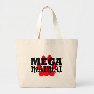 Mega Maimai Red Paw Print Canvas Bag