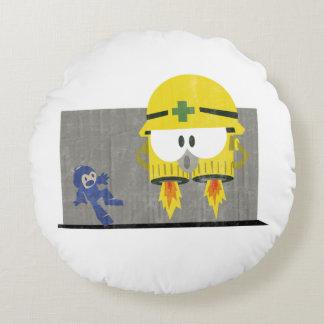 Mega Man Vs Neo-Metol Round Cushion