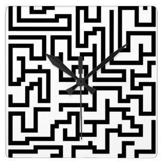 Mega Maze Square Wall Clock