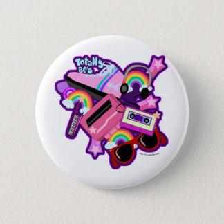 Mega Neon 80s Design 6 Cm Round Badge