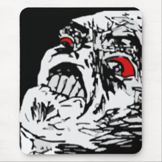 Mega rage comic face mouse mat