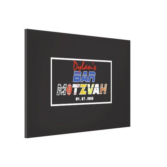 MEGA SPORTS Bar Bat Mitzvah Invitation Canvas Print